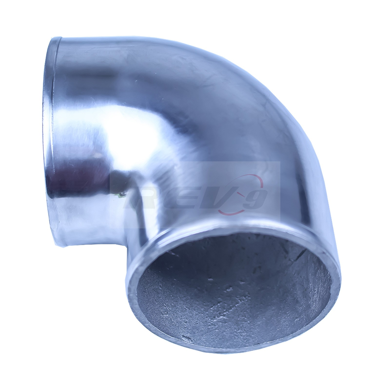 Solid Aluminum Pipe : Rev power degree quot cast aluminum elbow pipe polished