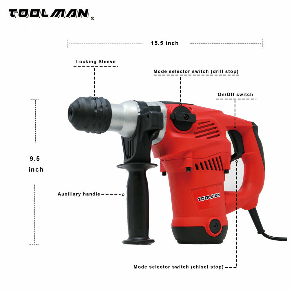 Toolman Electric Power Drill Driver 10 Amp For Heavy Duty Corded works with DeWa