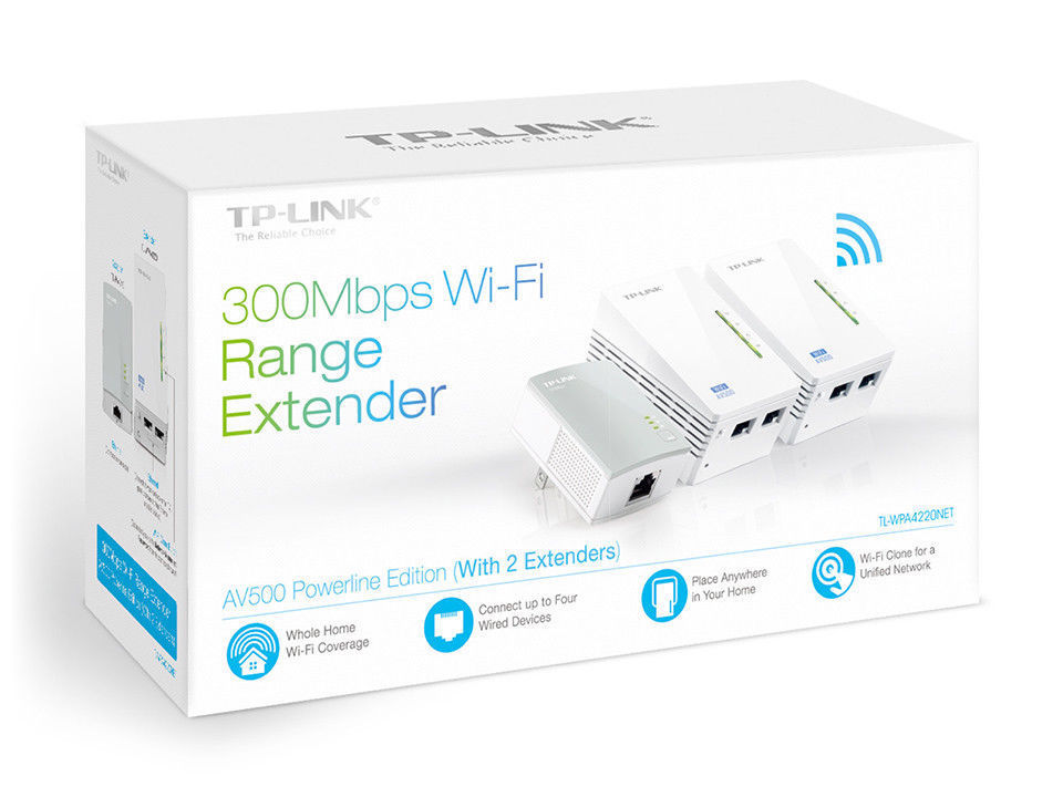 Tp Link Tl Wpa4220net Av500 300mbps Wi Fi Powerline Range Extender