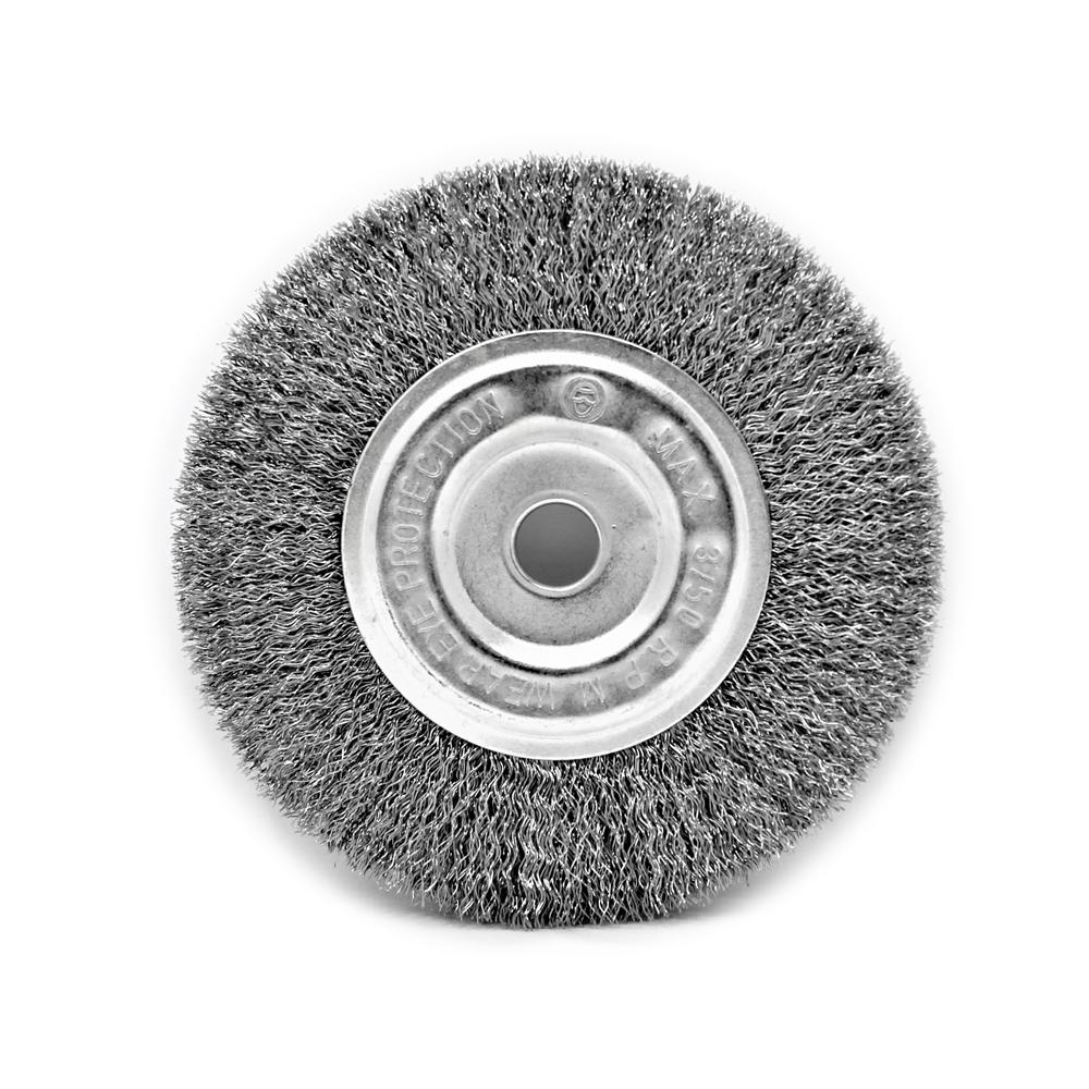 Toolman 6 Quot X 1 2 Quot 5 8 Quot Crimped Wire Bench Wheel Brush