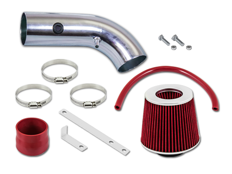 Filter Compatible With 01-05 IS300 Altezza 3.0 L6 R/&L Racing Black Short Ram Air Intake Kit